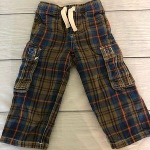 Mini Boden plaid cargo pants 3Y